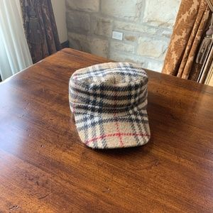 BURBERRY Check Wool Hat Size Medium
